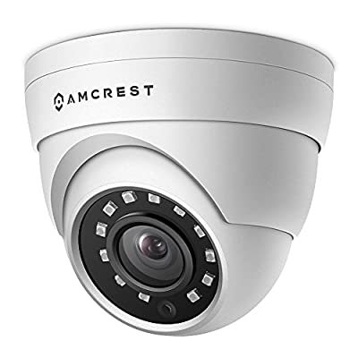 Amcrest UltraHD 4MP HD-Analog 1520P 2688TVL Outdoor Security Camera, 4MP 2688x1520, 65ft Night Vision, IP67 Weatherproof, 99.7° Viewing Angle from Amcrest