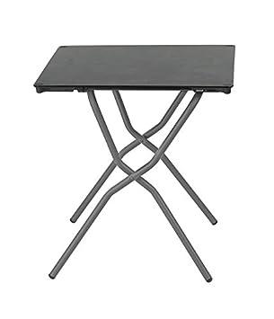 Lafuma Table de jardin carrée, 68 x 64 cm, 2 places, Pliable, Protection  intempéries, Anytime, Couleur: Volcanic / Tube Gris Basalte, LFM2714-8579