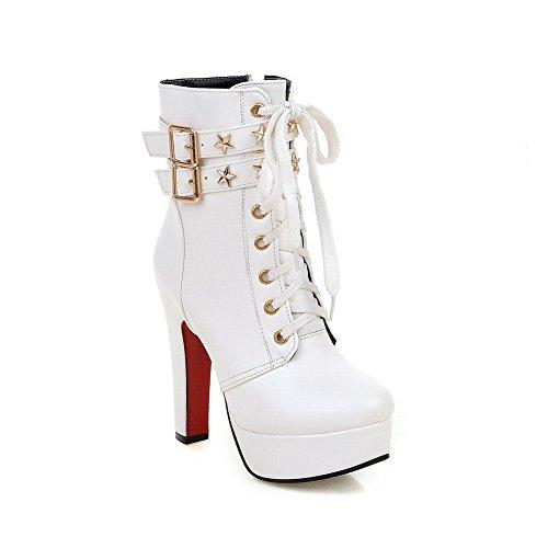 BalaMasa Womens No-Closure Boots Solid Comfort Urethane Urethane Urethane Boots B0772X4ZND Shoes be0d46