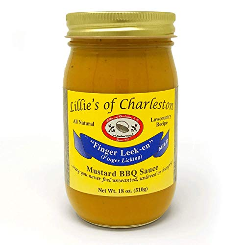 Lillie's of Charleston, Mild Mustard BBQ Sauce, 18 Oz