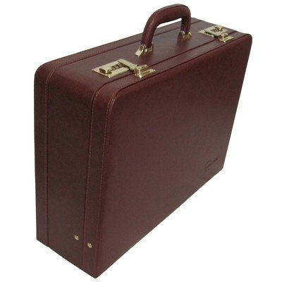 Amerileather Large Expandable Faux Leather Attache Case,Brown,US