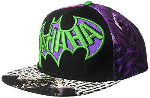 Joker Hat Batman (DC Comics Men's Joker Killing Joke Baseball Cap, Black, One)