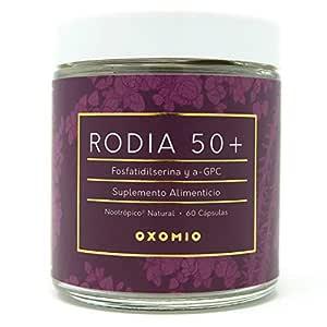 Rodia 50+ de Oxomio - Nootropico diaro en capsulas para proteccion mental y memoria de adultos mayores