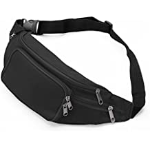 SAVFY Fanny Pack with 4-Zipper Pockets, Waist Bag Travel Pocket with Adjustable Belt for Workout Vacation Hiking, for iPhone 6 6S Plus, Galaxy S4 S5 S6 S7