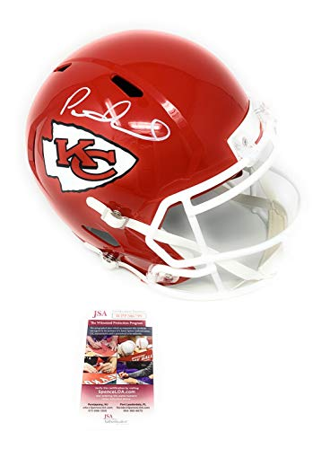 - Patrick Mahomes Kansas City Chiefs Signed Autograph Speed Full Size Helmet JSA Witnessed Certified