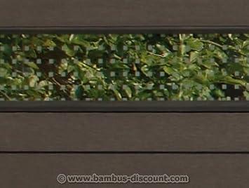 Amazon De Wpc Sichtschutz Glas Streifen Flach 180x15cm