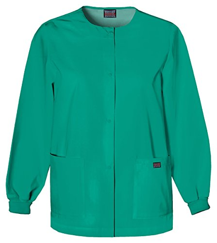 Cherokee Women's Traditional Snap Front Warm-Up Jacket_Surgical Green_4XL,4350