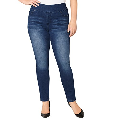 Avenue Women's Slimming Solutions Jegging with Tummy Control (Med Wash), 20 Medium Wash