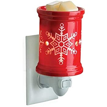 CANDLE WARMERS ETC Pluggable Fragrance Warmer- Decorative Plug-in for Warming Scented Candle Wax Melts and Tarts or Essential Oils, Snowflake
