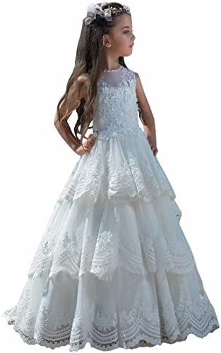 Rhinestones Quinceanera Ball Gown Flower Girls Dress Formal Pageant Wedding  41