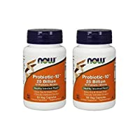 Now Probiotic-10 25 Billion - 50 Veg Capsules, 2 Pack