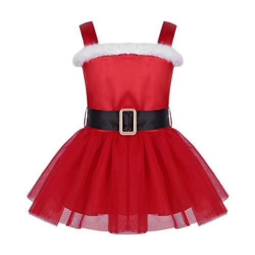 iiniim Baby Girls' Satin Red Santa Claus Costume