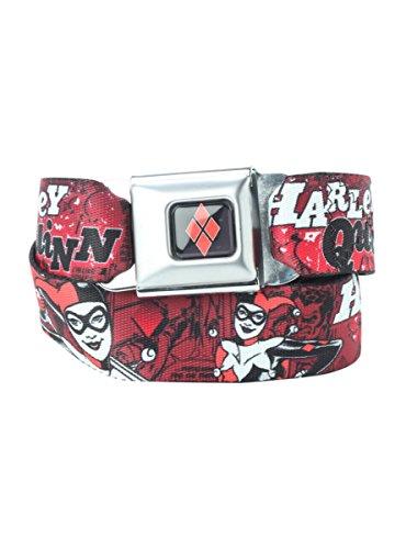 DC Comics Harley Quinn Seat Belt Belt