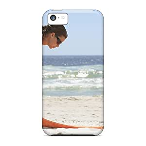 New Arrival Covers Cases With Nice Design For Iphone 5c- Woman On The Beach