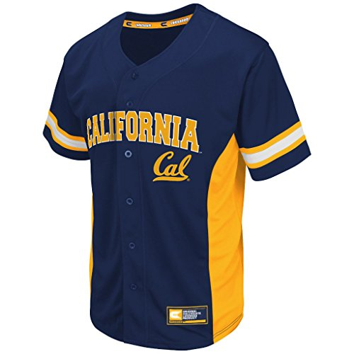 Mens Cal Berkeley Golden Bears Baseball Fashion Jersey (Team Color) - (Berkeley Jersey)