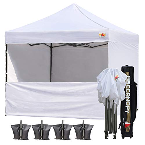 ABCCANOPY 18+ Colors Commercial 10×10 Instant Canopy Craft Display Tent with Wheeled Carry Bag & Full Walls, Bonus 4X Weight Bag & 10ft Screen Wall & 10ft Half Wall (White) Review