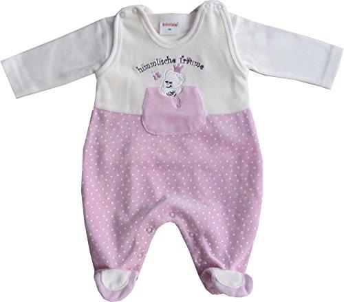 Schnizler Baby - Mädchen Strampler Set Nicki, Himmlische Träume, 2 tlg. mit Langarmshirt, Gr. 68, Rosa (original 900)