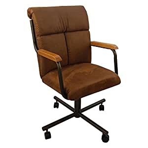 Amazon.com - Casual Rolling Caster Dining Arm Chair with ...