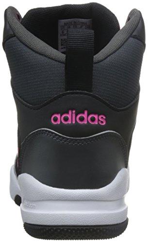 adidas CLOUDFOAM REWIND MID W - Zapatillas baloncesto para Mujer, Negro - (NEGBAS/ROSIMP/GRPUDG) 37 1/3