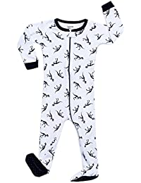 Little Baby Boys Girls Footed Sleeper Pajama 100% Cotton (Size 6 Months-5 Toddler)