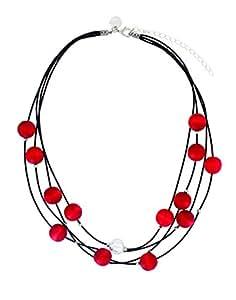 Aarikka VILKAS collar de cuentas de madera, 45 cm de largo, colour rojo