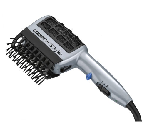 - Conair 1875 Watt 3-in-1 Styling Hair Dryer with Ionic Technology; 3 Attachments to Detangle / Straighten / Volumize