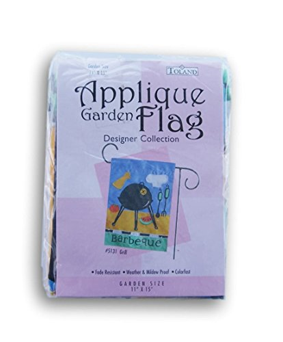 Toland Applique Garden Flag - 11 x 15 Inch (Barbecue)
