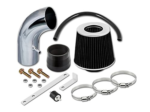 S&T Racing Black Short Ram Air Intake Kit + Filter 01-05 for Hyundai Accent 1.6 L4