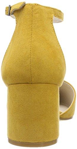 Punta mustard Tacco Chiusa Scarpe Giallo Divided Col Pump 721 Donna Bianco fXOUA7w