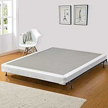 Image of Continental Sleep Memory Foam Gel 4-inch Box Spring Fabric Stretch Knit, Twin, Grey Home and Kitchen