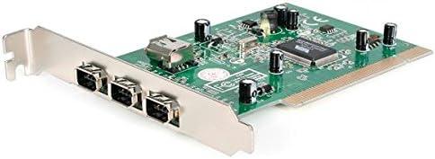 B00006B8C3 StarTech.com 4-Port PCI 1394a FireWire Adapter Card with Digital Video Editing Kit (PCI1394_4) 41PV2BscD4VL.