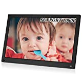 MRQ 15.6 Inch Digital Photo Frame Display Photos with Background Music 1080P Video
