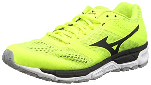 MizunoSynchro Mx - Zapatillas de running hombre Amarillo (Safety Yellow/Black/Silver)