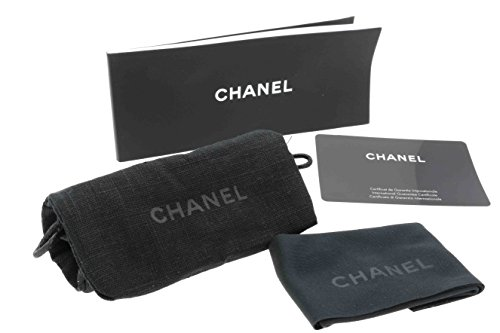Chanel Quilted Sunglass Sunglasses Case, Lense Cloth, Pouch & Leaflet Black