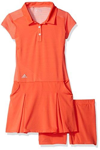 adidas Golf Girls Range Wear Dress, Easy Coral, Medium