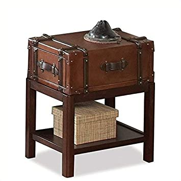 Riverside Furniture 597047 Suitcase Chair Side Table Brown