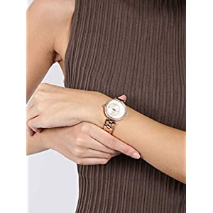 Giordano Women's Silver Dial & Rose Gold Metal Strap Watch, Model No. A2056-33