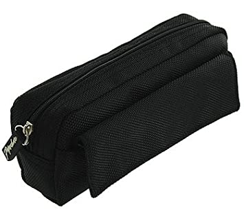 be570be42f9b1f Paperchase black nylon multi pencil case: Amazon.co.uk: Office Products
