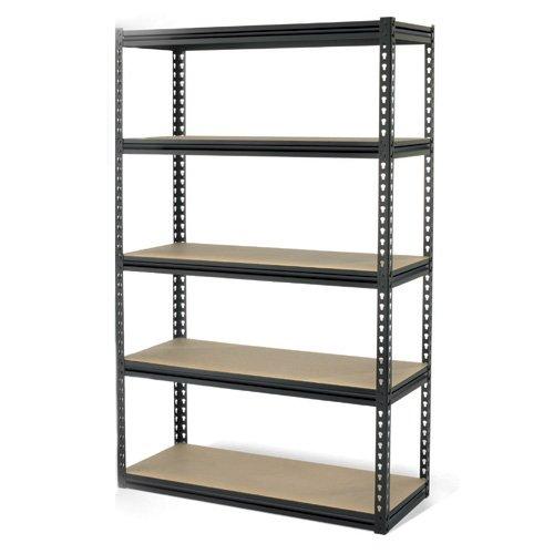 Gorilla Rack GRZ6-4824-5IMP 5-Shelf 48-by-24-by-72-Inch Shelving Unit, Black by Gorilla Rack