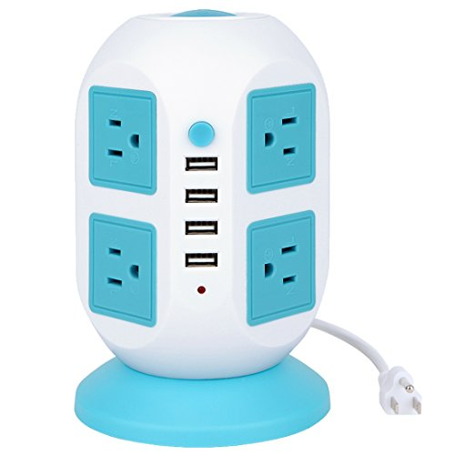 Power Strip, Bessmate 8 Outlets Surge Protector with 4 USB C