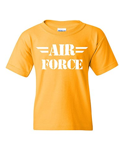Army Mom Yellow T-shirt - Air Force Youth T-Shirt Military Veteran POW MIA Air Force Mom Kids Tee Yellow L