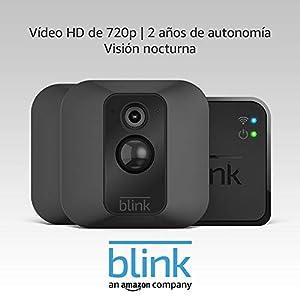 Blink XT Sistema de cámaras de seguridad con detección de movimiento, instalación en paredes, vídeo HD, 2 años de autonomía y almacenamiento en el Cloud - 2 cámaras