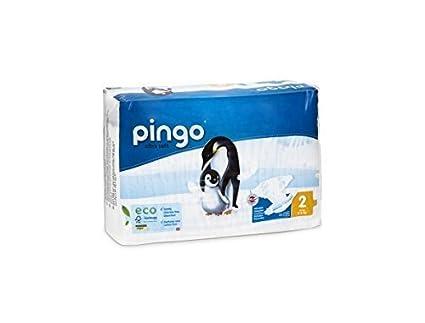 PACK 3 x 84 Pañales ecológicos para bebés PINGO. Talla 2. Envase compacto y