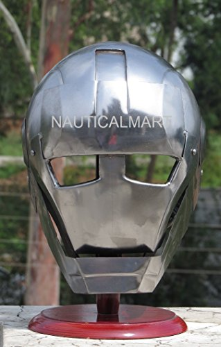 NAUTICALMART Iron Skeleton Helmet Halloween Iron Man -