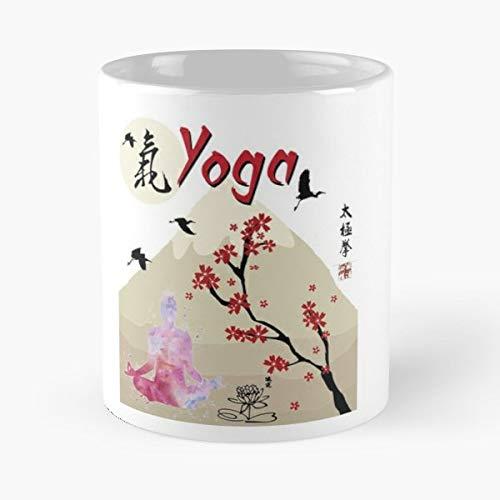 Yoga Hatha Yin Ashtanga Bagua - Morning Coffee Mug Ceramic Novelty, Funny Gift