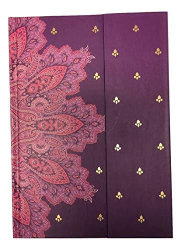 Carolina Pad Studio C Journal with Magnetic Closure and Foil Embellishments ~ Taj Mahal (Plum; 6