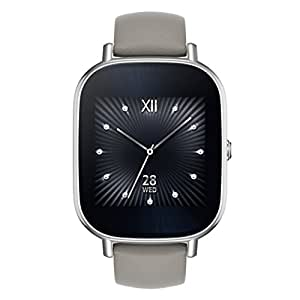 ASUS ZenWatch 2 Silver with Beige Leather Strap 37mm Smart Watch with Quick Charge Battery, 4GB Storage, 1.45-inch AMOLED Gorilla Glass 3 TouchScreen, IP67 Water Resistant
