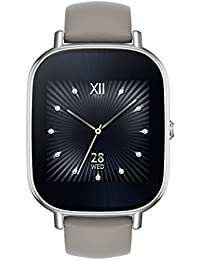 ZenWatch 2 Silver with Beige Leather Strap 37mm Smart Watch with Quick Charge Battery, 4GB Storage, 1.45-inch AMOLED Gorilla Glass 3 TouchScreen, IP67 Water Resistant (International Version)