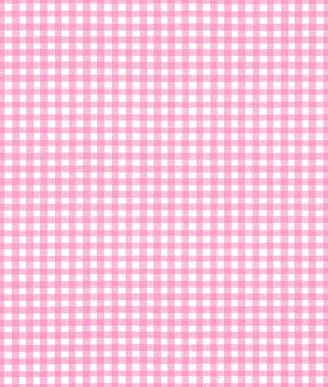 Robert Kaufman 1/8in Carolina Gingham Candy Pink Fabric by The Yard