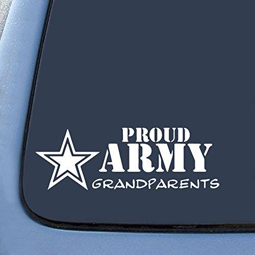 [해외]자랑스런 육군 조부모 스티커 데 칼 노트북 자동차 노트북 6 (흰색)/Proud Army Grandparents Sticker Decal Notebook Car Laptop 6  (White)